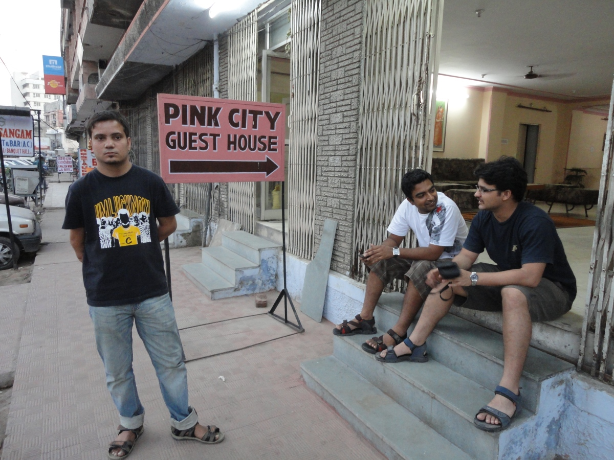 The morning at Pink City Guest House